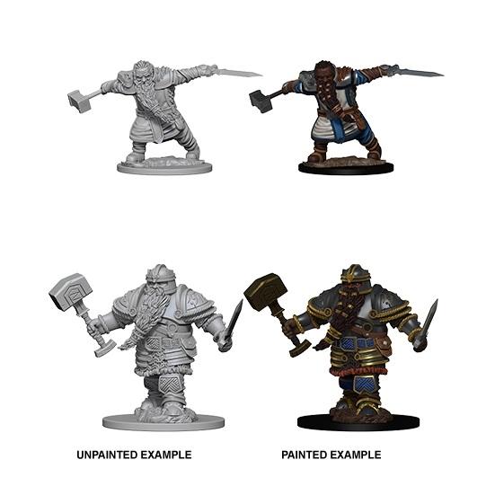d d unpainted nolzur s marvelous miniatures male dwarf fighter