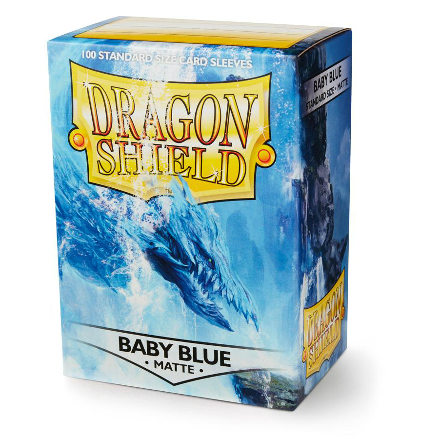 Dragon Shield Baby Blue Matte Standard 100 Card Sleeves
