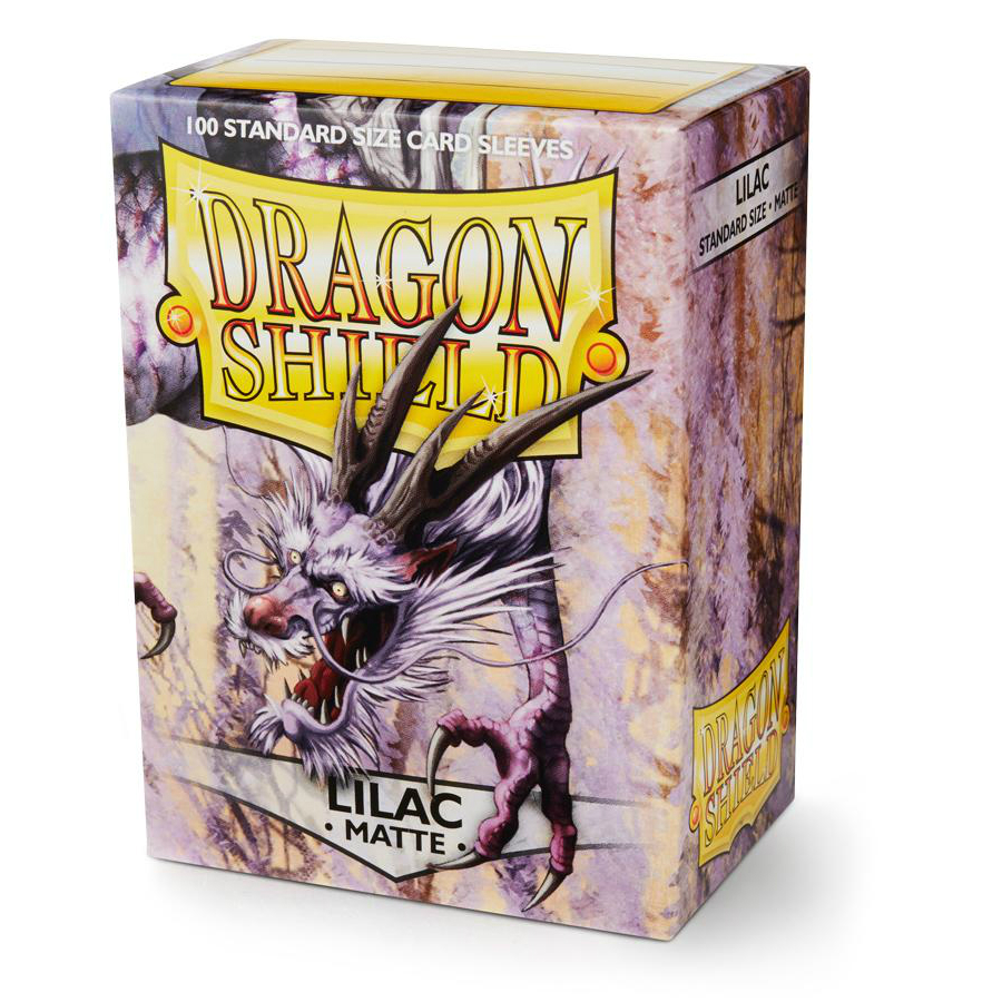 Dragon Shield Lilac Matte Standard 100 Card Sleeves
