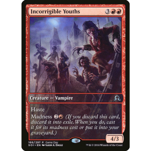 Incorrigible Youths Game Day Promo (Shadows over Innistrad) Magic the Gathering