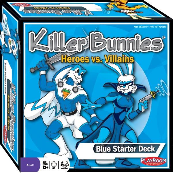 Killer Bunnies Heroes Vs Villains Blue Starter Deck