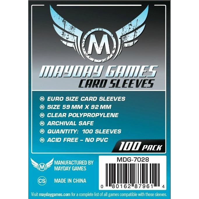 Mayday Games Card Sleeves 59x92mm (100 Pack)