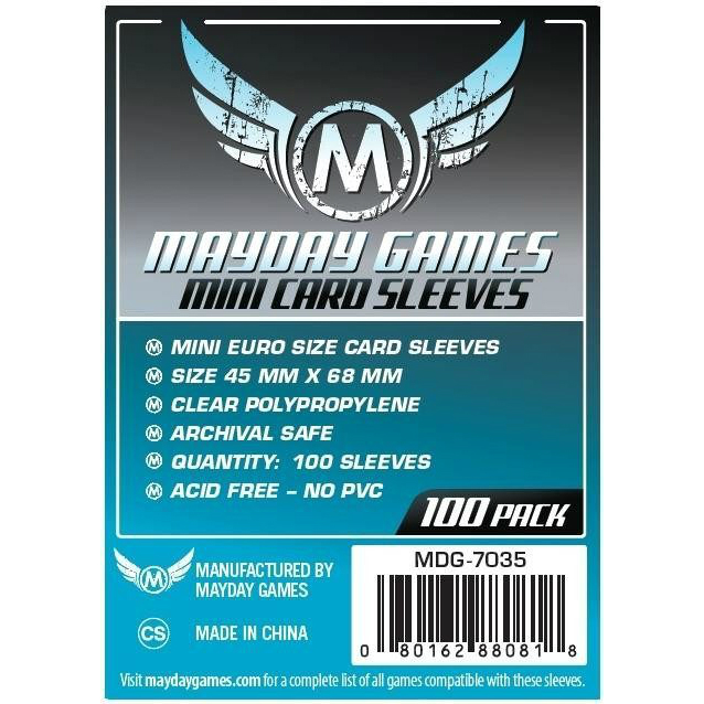 Mayday Games Mini Card Sleeves 45x68mm (100 Pack)