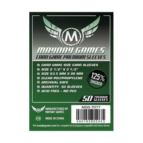 Mayday Games Premium Card Sleeves 63.5x88mm (50 Pack)