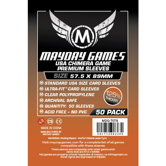 Mayday Games USA Chimera Premium Card Sleeves 57.5x89mm (50 Pack)