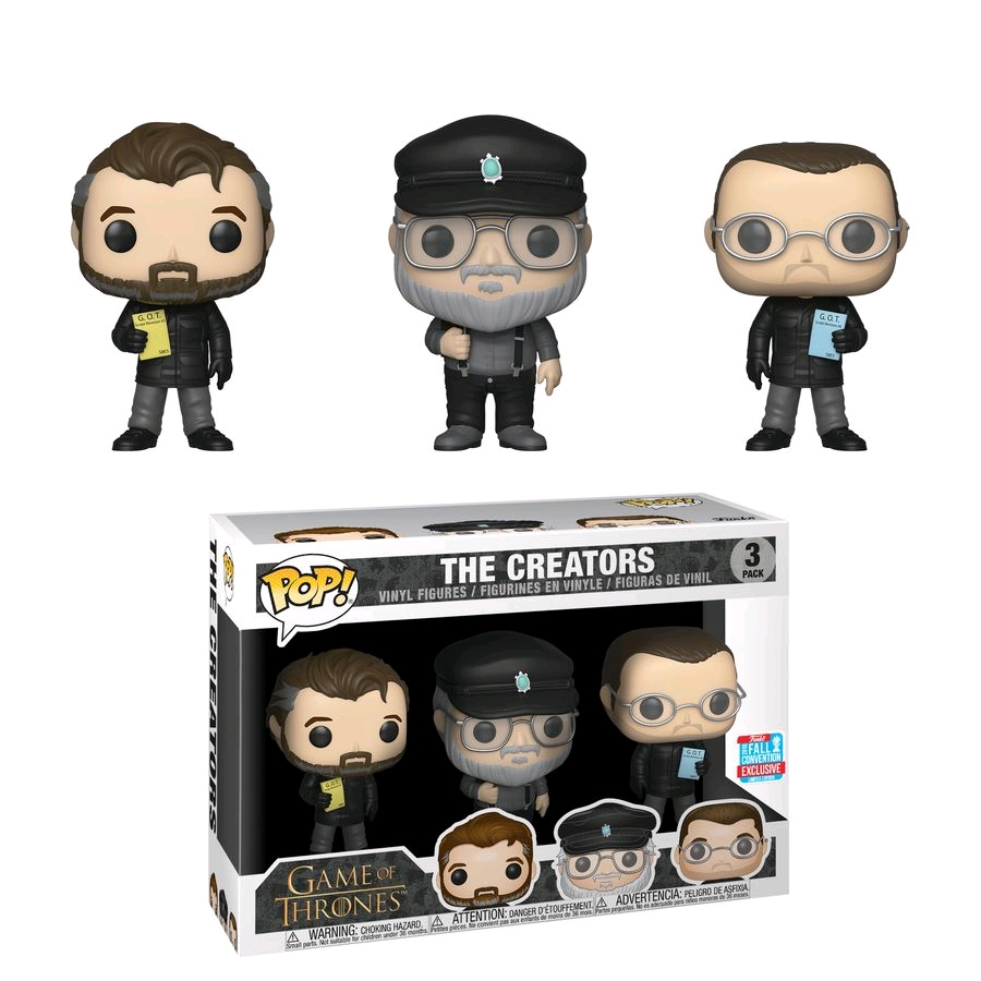 POP Game of Thrones The Creators 3 Pack NYCC 2018 (RS)