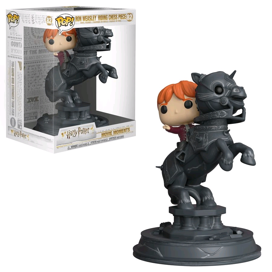 POP Harry Potter - Ron Weasley Riding Chess Piece Movie Moment