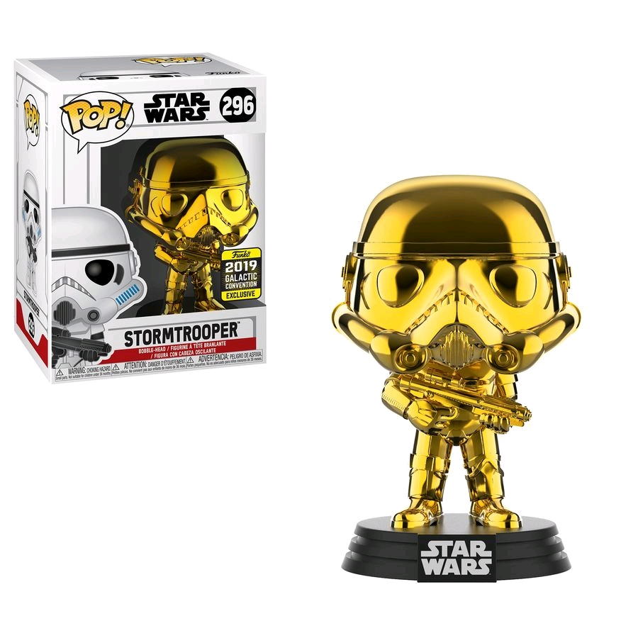 POP Star Wars Stormtrooper Gold Chrome SW19 (RS)