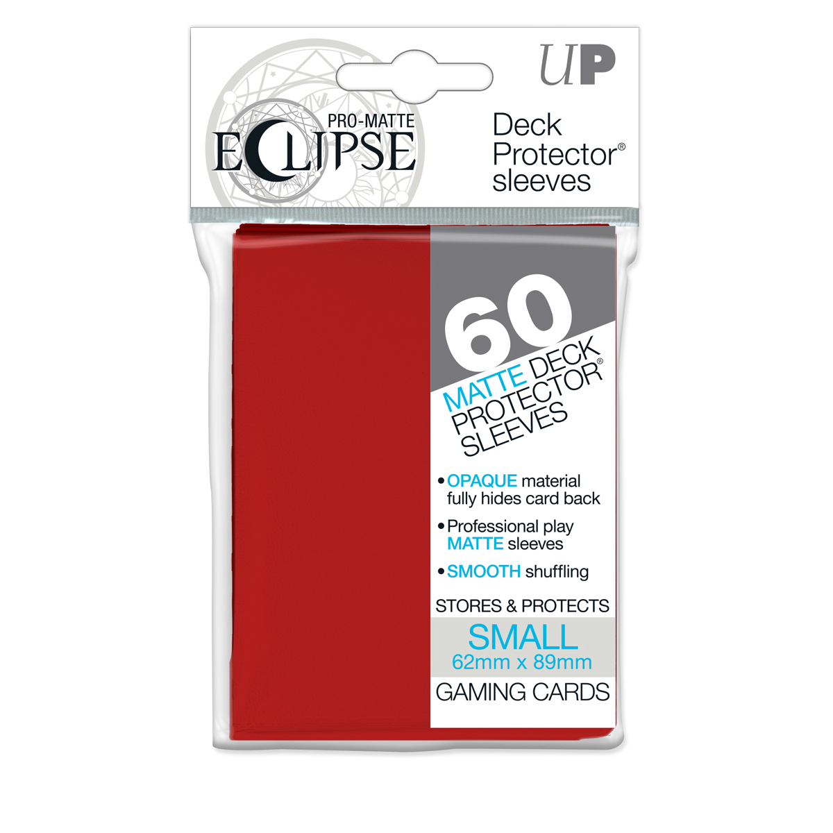 Ultra Pro Pro-Matte Eclipse Sleeves Small 60ct Red
